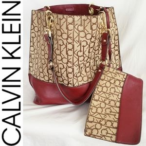 Calvin Klein Purse w/ Attached Wallet